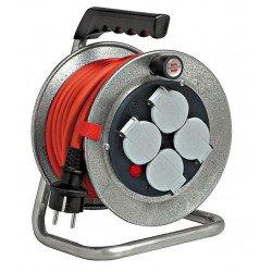 Enrouleur de câble électrique 40m avec 4 prises Sécurité