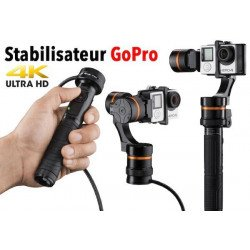 Stabilisateur GoPro - Waver pro Gimbal 3 axes - OCCASION