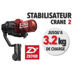 Zhiyun Crane 2 - Stabilisateur d'image avec follow focus- 3,2 Kg - OCCASION