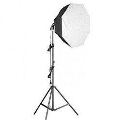Eclairage Daylight 1000 watts + Softbox octogonale Ø 60cm - Walimex Pro Kit Daylight