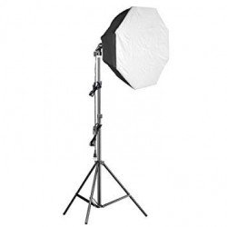 Kit Eclairage Daylight 1000 watts + Softbox octogonale Ø 60cm - Walimex Pro Kit Daylight