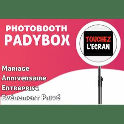 PadyBox Photobooth pour l'animation de vos évènements (Mariage, Anniversaire, Entreprise, Salon ...) Photo Box