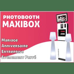 Maxi Box - Photobooth pour l'animation de vos évènements (Mariage, Anniversaire, Entreprise, Salon, etc.) Photo Box