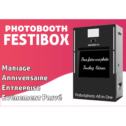 FestiBox - Photobooth pour l'animation de vos évènements (Mariage, Anniversaire, ...) Photo Box
