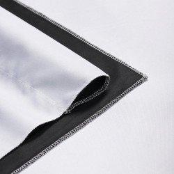 Fond en tissu de haute qualité Noir & Blanc 3x6 M - Walimex Pro Fond Tissu & Mousseline