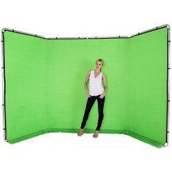 Lastolite Fond panoramique 4 m en tissu - Couleur Vert Chromakey Fond pliant