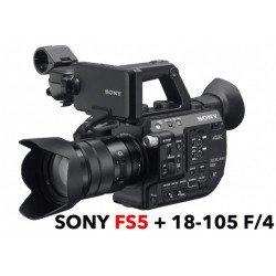 Sony FS5 MkII PXW-FS5K Caméra 4K Super 35 + Optique 18-105mm avec Mise à jour RAW Caméra Vidéo
