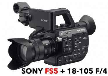 Camera 4K SONY PXW-FS5 MK2 + Sony 18-105mm E PZ f/4 G OSS Caméra Vidéo
