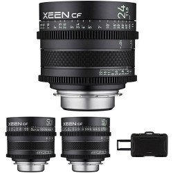 Pack 3X Samyang XEEN CF 24, 50, 85 mm - Monture Canon EF