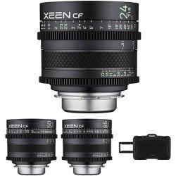 Pack 3X Samyang XEEN CF 24, 50, 85 mm - Monture Canon EF Samyang-Canon