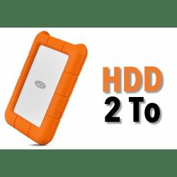 Disque dur HDD 2TB - LaCie Rugged USB-C 2TB Mobile Drive Disque HDD
