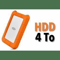 Disque dur HDD 4TB - LaCie Rugged USB-C 4TB Mobile Drive Disque HDD