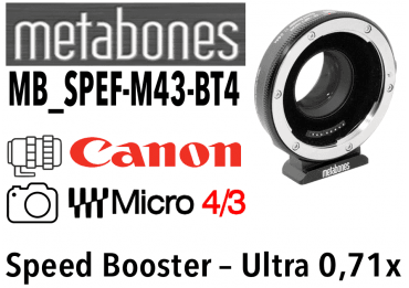 Bague Metabones Canon EF to MFT T II - Speed Booster ULTRA 0,71x MB_SPEF-m43-BT4 Produits d'occasion