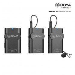 Kit Micro cravate double émetteur - Walimex pro Boya WM4 Pro K-2 Micro Cravate