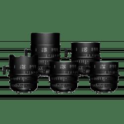 Sigma Kit 5 optiques FF T1.5 EF - 20 / 24 /35 / 50 / 85 mm Monture Canon (EF)