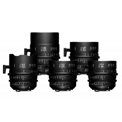 Valise Sigma Kit 5 optiques FF T1.5 EF Mètres - 20 / 24 /35 / 50 / 85 mm - Ciné Prime Monture EF