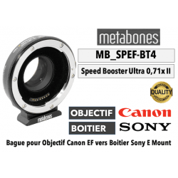 Bague Metabones Canon EF to Sony E - Speed Booster Ultra 0.71x MB-SPEF-BT4 Monture Sony (E)