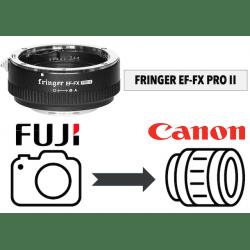 Fringer EF-FX PRO II avec bague d'ouverture électronique intégrée Monture Fuji (X)