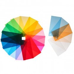 Kit 22x Filtres gélatine 80x100 cm pour spot et panneau Led Gelatine couleur