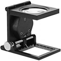 Loupe pour diapo avec lampes - Compte-fils d'aluminium avec 2 lampes LED Scanner Photo - Film - Diapo