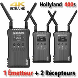 Hollyland Mars 400s - Kit Emetteur + 2x Récpteur vidéo HF HDMI/SDI Liaison vidéo HF