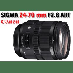 Sigma 24–70mm f/2.8 DG OS HSM Art - Monture Canon Standard