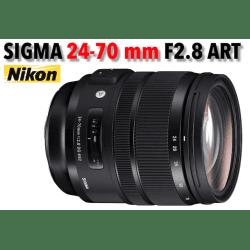 Sigma 24–70mm f/2.8 DG OS HSM Art - Monture Nikon Standard
