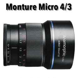 Sirui 50mm F1.8 Anamorphic Lens 1.35X (MFT-mount) Anamorphique