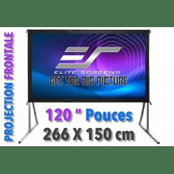 """Ecran de projection vidéo 120"""" (266 x 150 cm) - Projection Frontale Écran & Accessoires"""