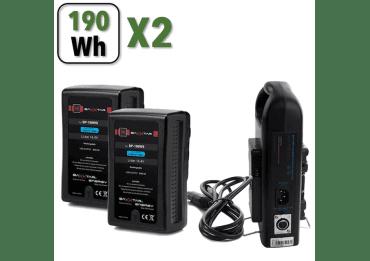 Kit 2x Batteries V-Mount Baxxtar PRO pour Sony BP-190WS Batterie V-mount / V-lock