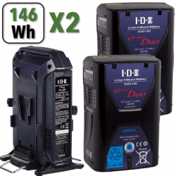 Kit 2x Batteries V-Mount IDX DUO-C146 + Chargeur IDX VL-2X Batterie V-mount / V-lock