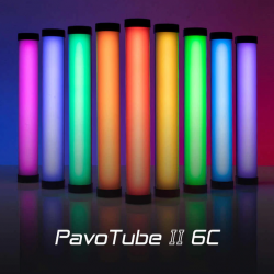 Tube Led Multi-color Nanlite Pavotube 6 W et 25 cm Tube Couleur