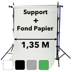 Système de Fond pour fond Papier de 1,35 x 11 m Fonds Papier