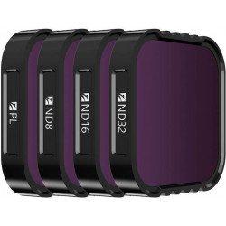 Kit 4 filtres Densité Neutre et polarisant - ND8 / ND16 / ND32 / Polarisant CPL pour GoPro Hero9 A CREER