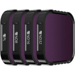 Kit 4 filtres Densité Neutre et polarisant - ND8 / ND16 / ND32 / Polarisant CPL pour GoPro Hero9 Accessoire Action Cam