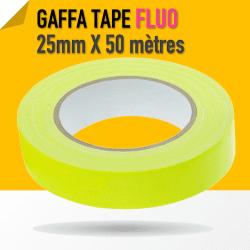 Gaffa Tape Fluo jaune - 25mm x 25m - 3170 Gaffers & Adhesifs