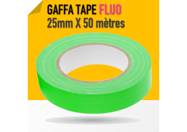 Gaffa Tape Fluo vert - 25mm x 25m - 3170 Gaffers & Adhesifs