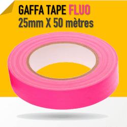 Gaffa Tape Fluo rose - 25mm x 25m - 3170