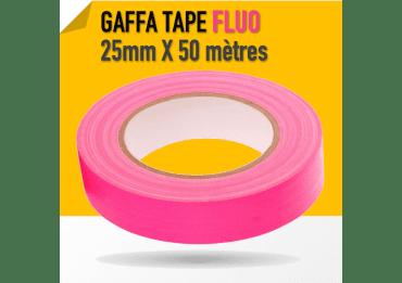 Gaffa Tape Fluo rose - 25mm x 25m - 3170 Gaffers & Adhesifs