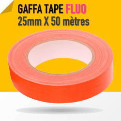 Gaffa Tape Fluo orange - 25mm x 25m
