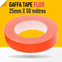 Gaffa Tape Fluo orange - 25mm x 25m - 3170 Gaffers & Adhesifs