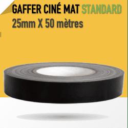 Ciné Gaff-Tech Noir Mat - 25mm X 50m - Noir - 8269 Gaffers & Adhesifs