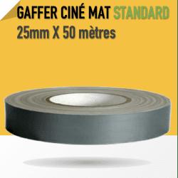 Ciné Gaff-Tech Gris Mat - 25mm X 50m - Gris - 8269 Gaffers & Adhesifs