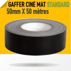Ciné Gaff-Tech Noir Mat - 50mm X 50m - Noir - 8269 Gaffers & Adhesifs
