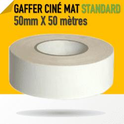 Ciné Gaff-Tech Blanc Mat - 25mm X 50m - Blanc - 8269 Gaffers & Adhesifs