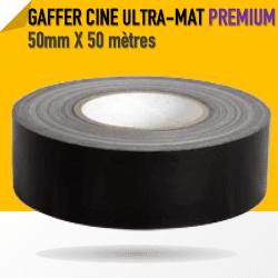 Ciné Gaff ULTRA MAT - 50mm X 50m - Noir - 8233 Gaffers & Adhesifs