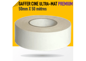 Ciné Gaff ULTRA MAT - 50mm X 50m - Blanc - 8233 Gaffers & Adhesifs