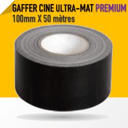 Ciné Gaff ULTRA MAT - 100mm X 50m - Noir - 8233 Gaffers & Adhesifs