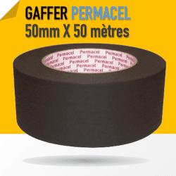 Permacel Papier adhésif (noir mat sans reflet) - 50mm x 50m Gaffers & Adhesifs