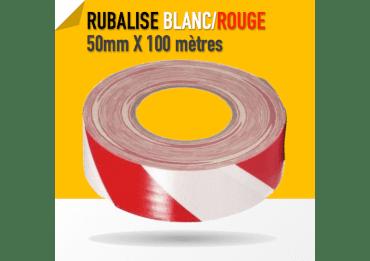 Warning Gaffer Blanc / Rouge - Tape 50mm x 100m Gaffers & Adhesifs